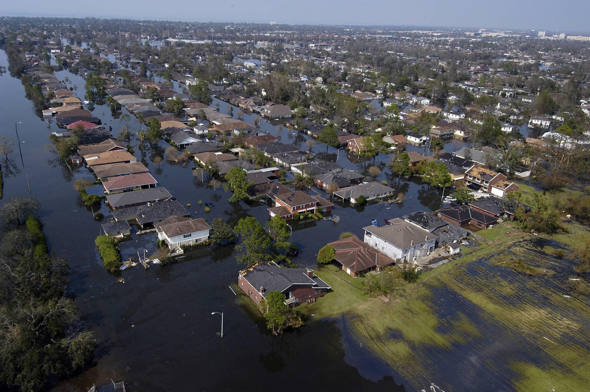 La Nouvelle Orléans suite au passage de l'ouragan Katrina