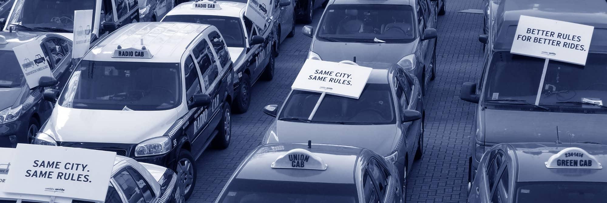 Protestation against Uber