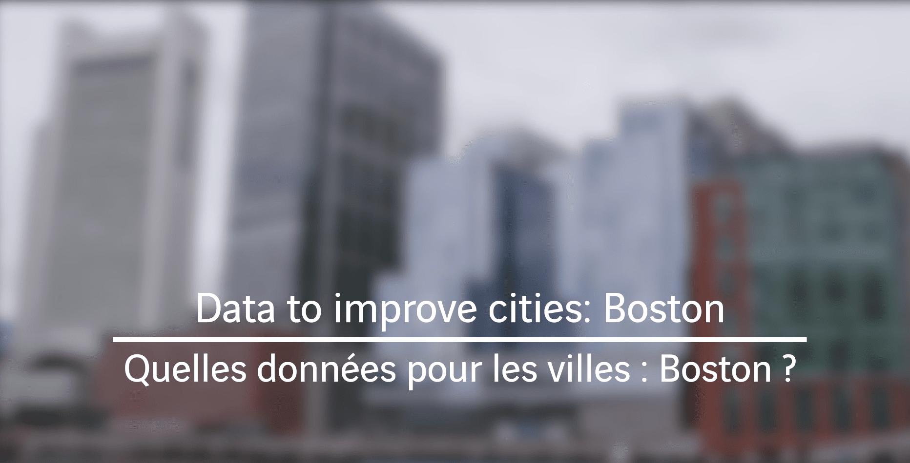 Boston : quelles données pour les villes ?