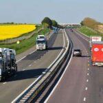 Poids lourds sur l'autoroute A4