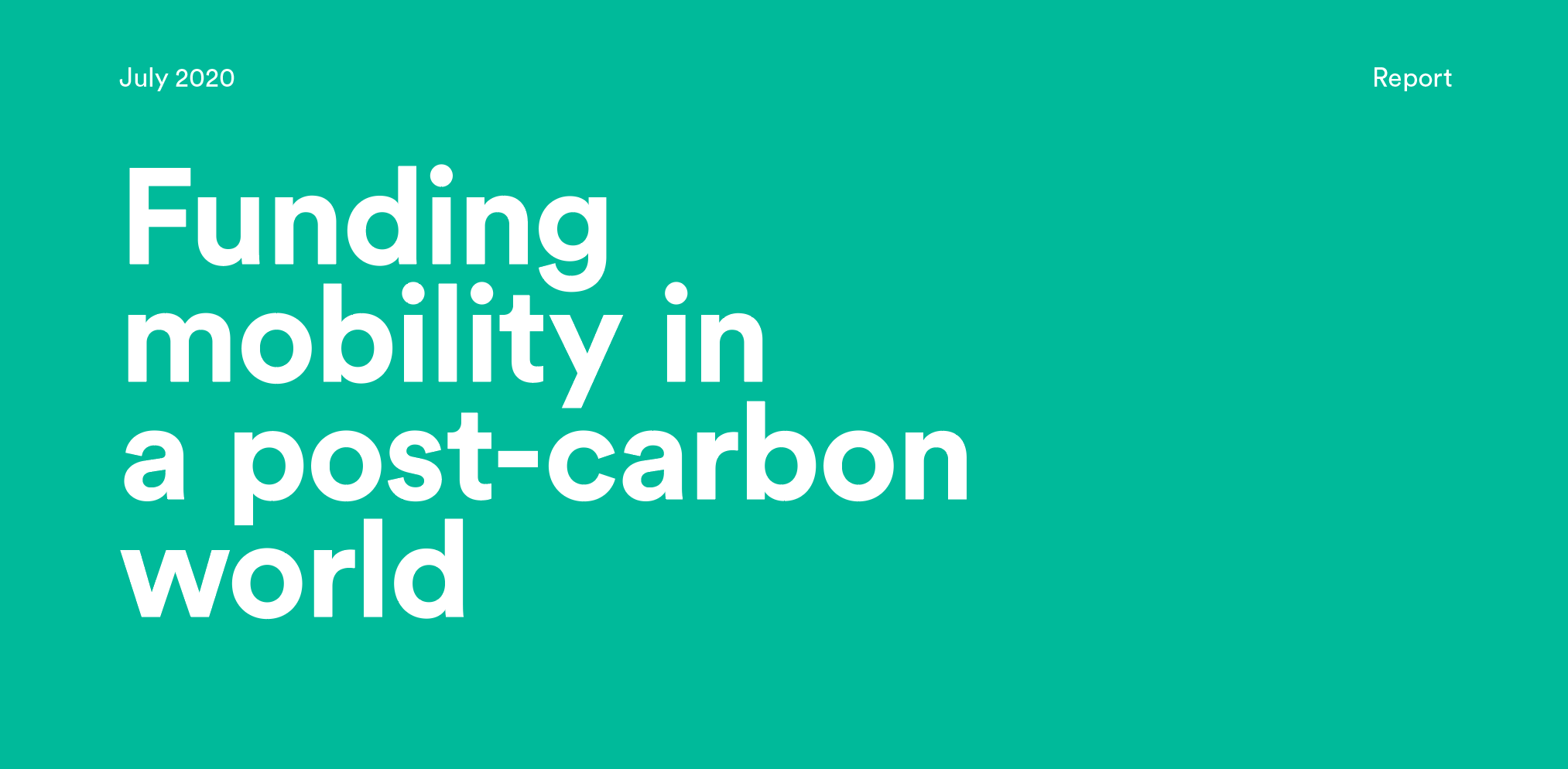 Funding mobility in a post-carbon world - Report
