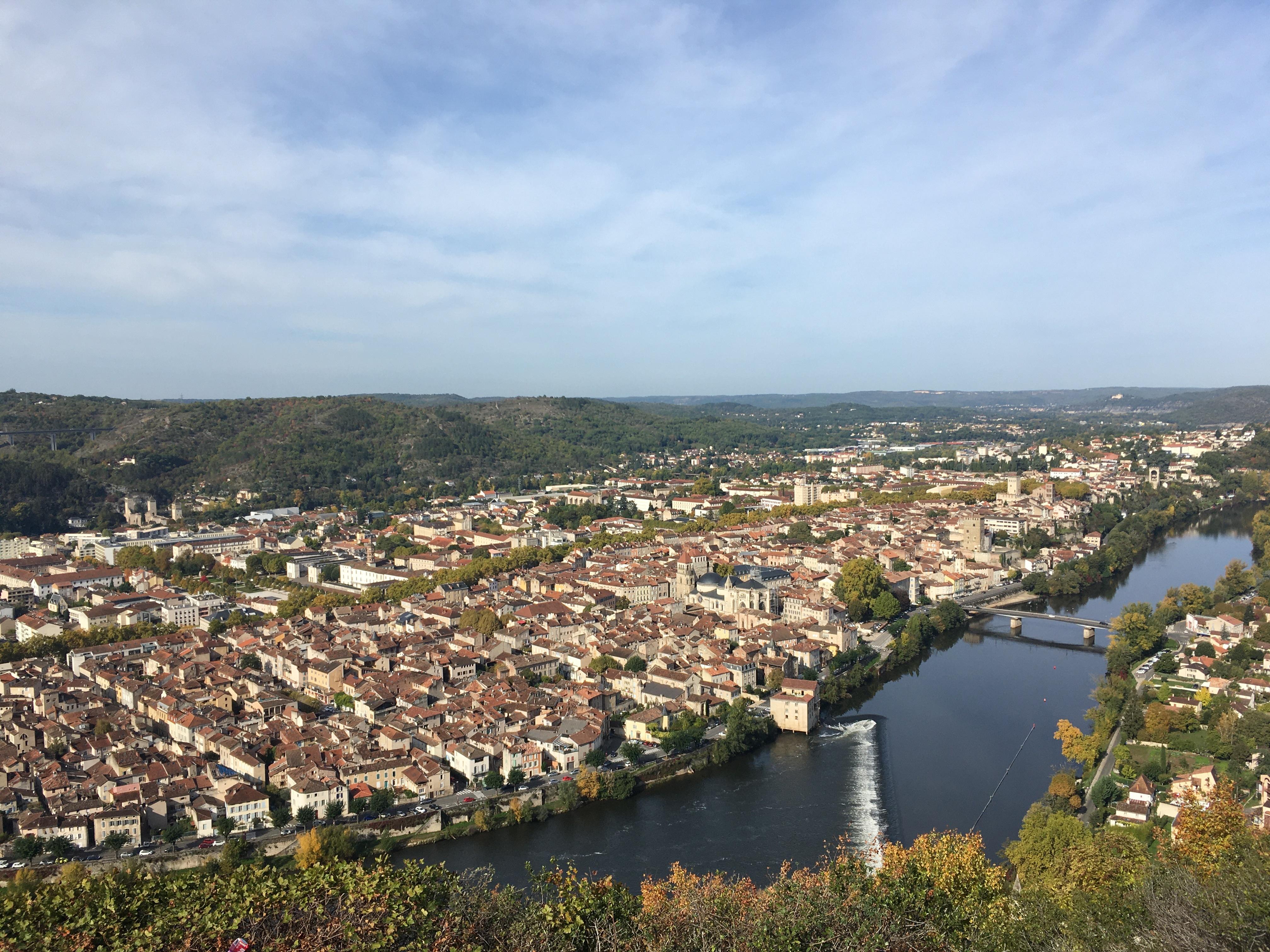 Vue panoramique de Cahors