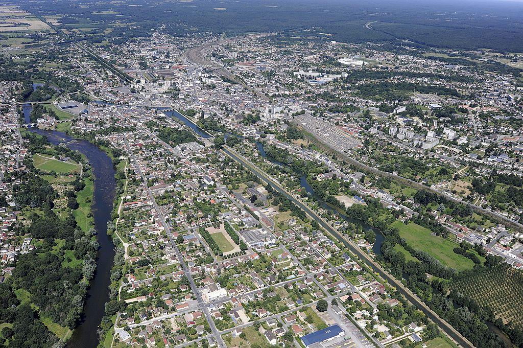 Vue aérienne de Vierzon