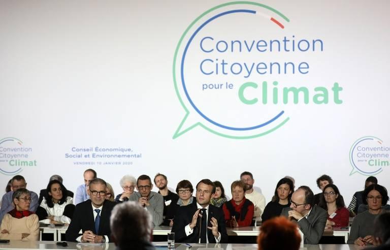 Emmanuel Macron à la Convention citoyenne