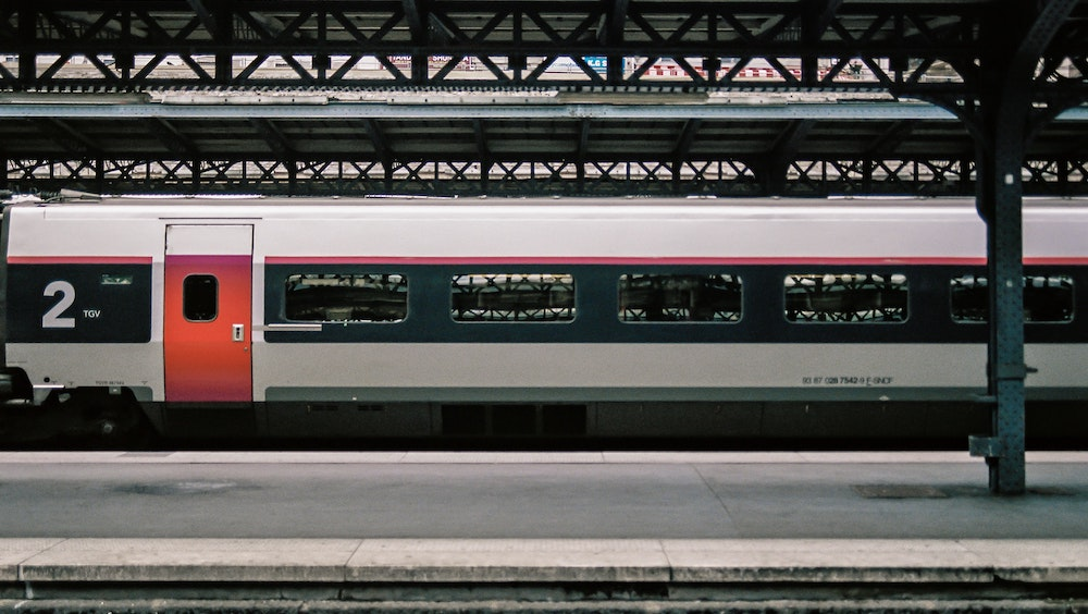 TGV in a station